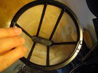 Rinsing the Reusable Filter