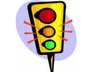 drawing of a stoplight