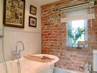 ... Brick Wall In Bathroom