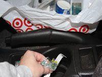Target bag full of garbage