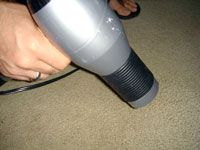 blow drying carpet