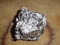 wad of aluminum foil