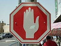 Hand sign stop