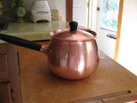 shiny clean copper pot