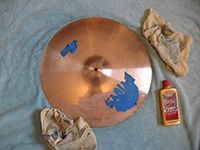 cleaning cymbals with metal polish