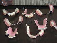 collection of dentures