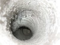 Inside a dryer vent