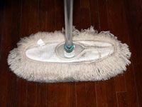 wiping up floor