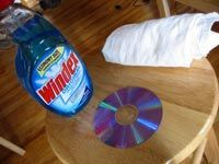 Bottle of windex by dvd