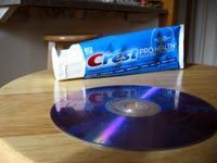 bottle of toothpaste by dvd