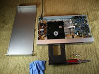 disassembled dvd player