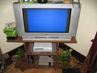 tv stand with games