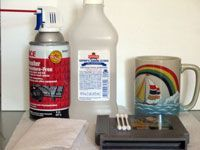 assorted cleaning supplies