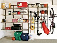 organized garage shelving