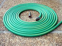 coiled green hose