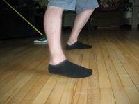 sliding in socks on the hard wood