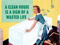 1950s clean house sign