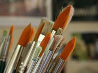 bunch of soft paintbrushes