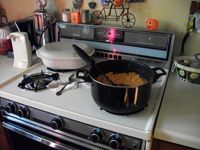 junk on stovetop