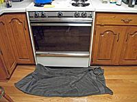 drying stove top and floor