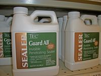 jug of limestone sealer