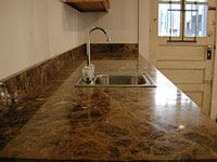 Cleaning Marble Countertops And Floors. Cleaned Off Countertop