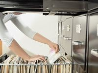 Organizing file cabinet