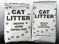 bags of cat litter