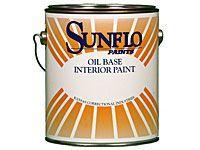 bottle of oil base paint