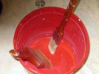 soaking paint burshes