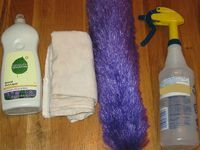 more cleaning supplies