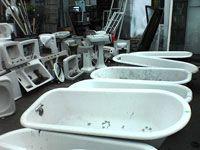 row of bathtubs