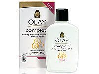bottle of oil of olay moisturizer