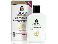 bottle of oil of olay moisturizer