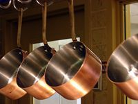 hanging copper pots