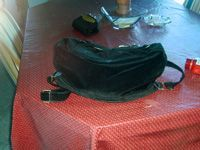 purse on a table