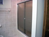 a shower door