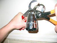 tools loosening showerhead