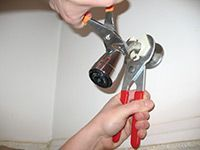 reattaching the showerhead