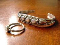 clean silver ring and bracelet