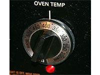 oven temperature dial