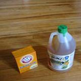 Box of Baking soda and Jug of Vinegar