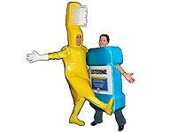 people dancing in brush and mouthwash costumes