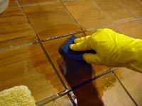Hand scrubbing tiles