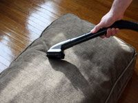 vacuuming upholstery