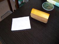 white microfiber cloth and brush