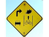 yellow instruction signs