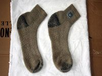 drying wool socks