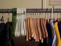 hangers in the closet