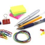common desk clutter